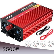2500W DC 12V To AC 220V Power Inverter Converter Car Charger Modified Sine Wave