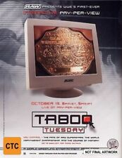 WWE - Taboo Tuesday DVD 2004 New Region 4 Sealed Wrestling