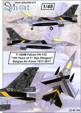 Syhart Decals 1/48 F-16AM FALCON 100 Years of 1st Sqn Stingers Belgian Air Force