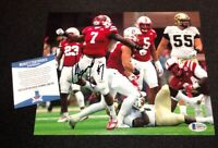 MOHAMED SIGNED NEBRASKA CORNHUSKERS 8X10 PHOTO BECKETT COA Q89756