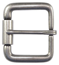"""Antique Silver Roller Belt Buckle for 1 1/2"""" Belts - High Quality - NEW"""