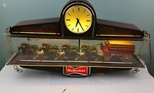 Vintage Budweiser clydesdale spectacular hanging  clock/light 1979 item  023-03