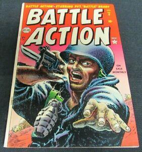 Battle Action #8 (1953) Golden Age Atlas Classic Cover VG 4.0 JM100