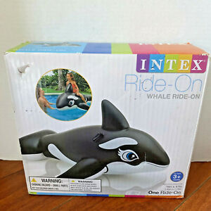 """Intex 76"""" Jumbo Inflatable Whale Ride-On Pool Float With Handles - New In Box"""