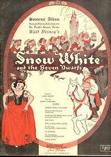 SNOW WHITE & SEVEN DWARFS Song Book VOCAL SELECTION 9 DISNEY Songs
