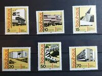 German DDR - 1980 - Bauhaus Architecture. - 6 stamp set - MNH