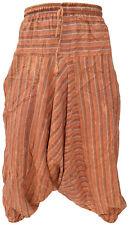 algodón claro Deslavado Hombre Pantalones Informales Verano Rayas Aladdin Hippy