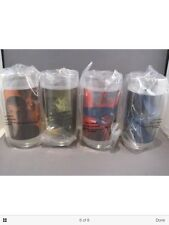 Set of 4 Star Trek Movie Glasses from Burger King new still factory sea