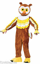 GIVE A HOOT OWL MASCOT ADULT SIZE WITH HEADPIECE & JUMPSUIT HALLOWEEN COSTUME