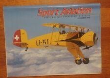 Sport Aviation Magazine November 1995  Oshkosh '95 Antique Grand Champion