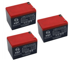 3Pc 6DZM12 12V 14AH 36V Battery for Electric/Mobility Scooters E- bike Mower ATV