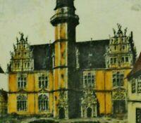 Möller (XX) seltene Farbradierung: HELMSTEDT - JULEUM (Hörsaal der Universität)
