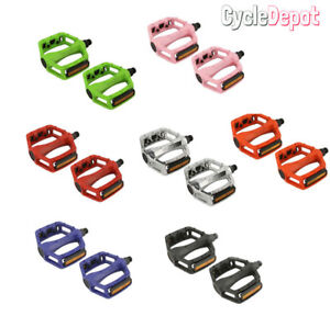 "NEW ALLOY 1/2"" OR 9/16"" Axle Flat Pedal for Track Fixie BMX MTB Cruiser Kids"