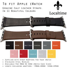 Replacement Leather Strap To Fit Your Apple 38-42-44mm iWatch - In 11 Colours