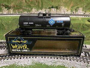 ✅WEAVER 3-RAIL ADM 40' TANK CAR! O SCALE MODERN FREIGHT TRAIN CARGILL