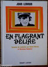 John LENNON BEATLES En Flagrant délire Edition originale Française 1965 Belfond