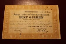 KAISERSLAUTERN: FÜNF GULDEN, 1870