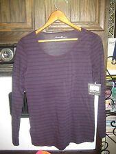 Eddie Bauer Outdoor Live Your Adventure Long Sleeve Shirt Purple Sz Medium