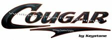 """ COUGAR""  RV  Graphic Lettering Decal 58"" X 18.5"" Version 2 BLACK  With Copper"