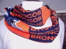 DENVER BRONCOS  NFL BLOCK SOFT INFINITY COWL FLEECE SCARF HANDMADE UNISEX