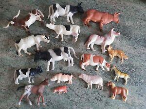 Plastic Farm Animals Job Lot