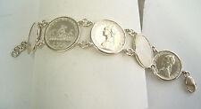 Bracciale in Argento 925 con monete da 500 lire in Argento - 3 Caravelle -