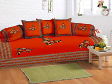 Indian Handmade Red New Diwan Set Diwan Cover Cushion Covers Bolster Covers Set