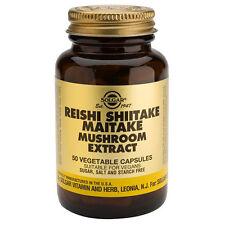 Solgar hongo REISHI SHIITAKE MAITAKE Extracto Cápsulas vegetales, 50
