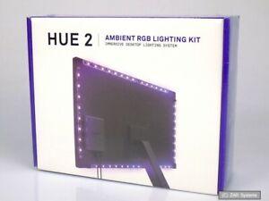NZXT AC-HUEHU-B2 HUE 2 Ambient RGB Lighting Kit - Beleuchtung für Monitor, NEU