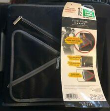 Five Star 15 Multi Pocket Zipper Binder300 Sheet Capacity Black With Grey