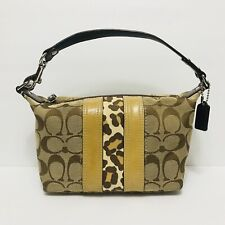 COACH Women's Small Brown and Beige Purse Hand Bag
