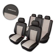 Premium Kunstleder Sitzbezüge Sitzbezug Schonbezüge für Renault Twingo Grau Set
