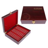 2x Wooden Display Case Storage For 30 Coins 46mm