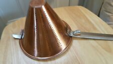 """Conical Strainer / Sieve Copper Base (used) 8"""" X 6"""""""
