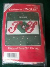"Christmas Jingles ""Joy Magnet"" Plastic Canvas Kit Size 3 1/2"""