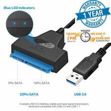 "USB 3.0 to SATA 2.5"" Adapter Cable Reader for External SSD HDD Hard Disk Drive"