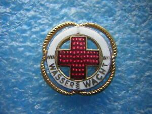 altes Abzeichen - Wasserwacht - Deutsches Rotes Kreuz - Anstecknadel ca. 1,8 cm
