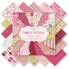 """First Edition 'Love Letters' 8"""" x 8"""" Premium Papers 16 SHEETS"""