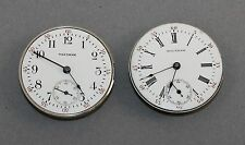 2 WALTHAM 0 SIZE POCKET WATCH MOVEMENTS - PARTS OR REPAIR - WR71