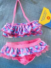 Build A Bear Babw 2 Pc Pink-Purple-Blue Bikini Nwt (T)