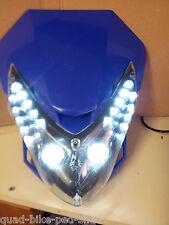 Blue Led Headlight  Fairing - Atv Scooter Quad pit dirt Bike Trike custom build