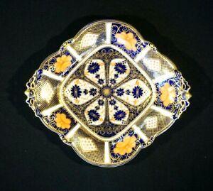 Stunning Royal Crown Derby Old Imari 1128, 1st Quality large Footed Bon Bon Dish
