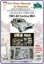 Ltd Ed. 1963 Cortina 1/24th Escala Kit de modelo de resina por motor Museum en miniatura.
