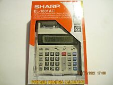 New In Box Sharp El-1801Aii Electronic Printing Calculator 12 Digit