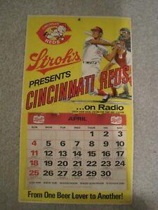 Cincinnati Reds 1971 Stroh's Beer Schedule Poster