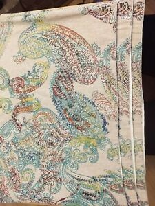 World Market Multicolor Paisley and Tan Old World Style 13 X 19 Cotton Placemats