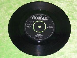 "BUDDY HOLLY : Wishing / Because I love you - Original 1963 UK 7"" VG/EX 215"
