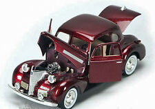 1939 Chevrolet Chevy Burgundy Coupe Diecast Model 1:24 Scale Motor Max #73247-BG