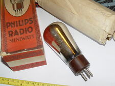 VERY RARE VINTAGE PHILIPS 1701 DOUBLE RECTIFIER BALLOON NOS  VALVE TUBE
