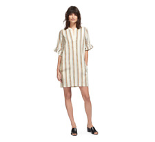 Whistles -- Margarita Stripe Dress - Linen - Multi - New With Tag - Size M 12-14